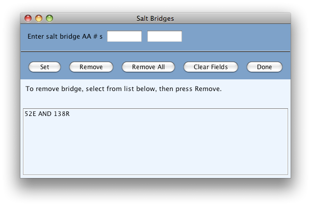 salt bridges dialog image
